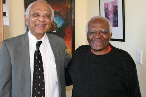 Brian Senewiratne and Archbishop Desmond Tutu